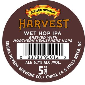 Sierra Nevada Harvest Wet Hop IPA-northern Hemi