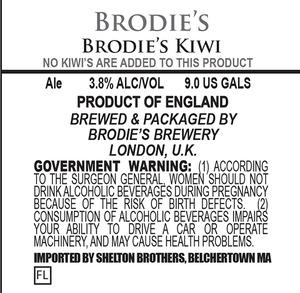 Brodie's Brewery Brodie's Kiwi December 2013