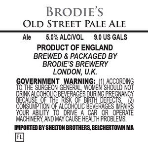 Brodie's Brewery Old Street Pale Ale