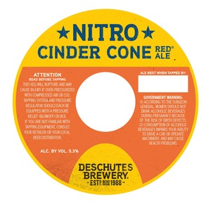 Deschutes Brewery Nitro Cinder Cone December 2013
