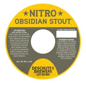 Deschutes Brewery Nitro Obsidian