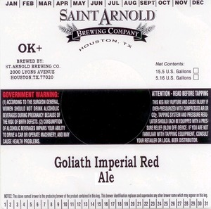 Saint Arnold Brewing Company Goliath Imperial Red Ale