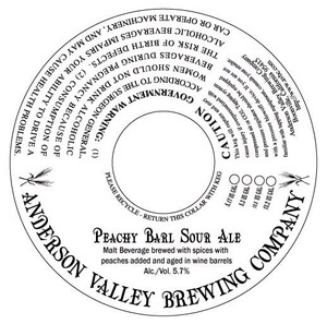 Anderson Valley Brewing Company Peachy Barl