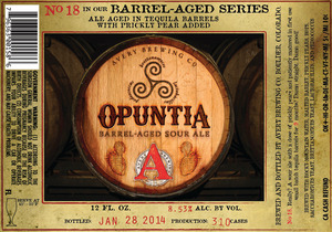 Avery Brewing Company Opuntia Barrel-aged Sour