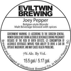 Evil Twin Brewing Joey Pepper