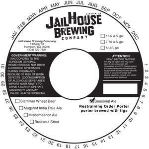 Jailhouse Brewing Company Restraining Order Porter