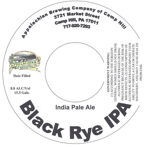 Appalachian Brewing Co Black Rye IPA