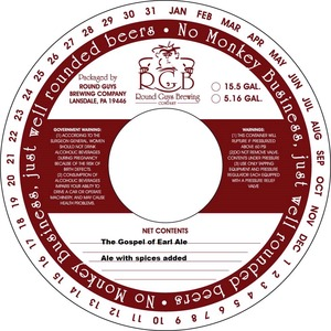 Round Guys Brewing Company Gospel Of Earl Ale