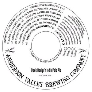 Anderson Valley Brewing Company Deek Beelgr'n