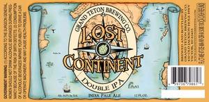 Grand Teton Brewing Company Lost Continent