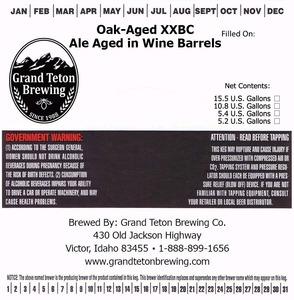 Grand Teton Brewing Company Oak-aged Xxbc