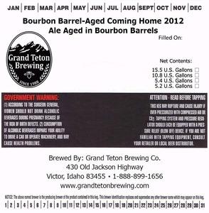Grand Teton Brewing Company Bourbon Barrel-aged Coming Home 2012