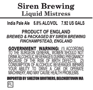 Siren Brewing Liquid Mistress