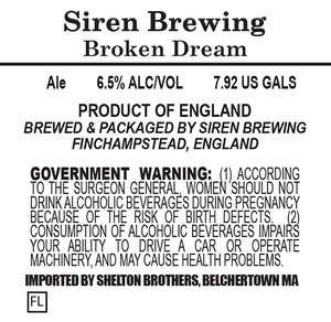 Siren Brewing Broken Dream