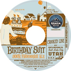 Uinta Brewing Company Birthday Suit Sour Farmhouse