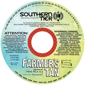Southern Tier Brewing Company Farmer's Tan