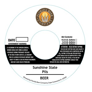 Florida Beer Company Sunshine State Pils