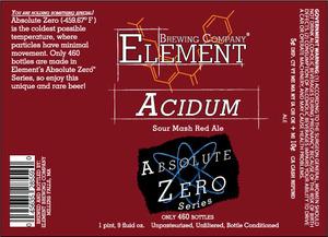 Element Brewing Company Acidum