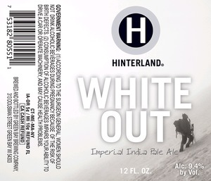 Hinterland White Out Imperial India Pale January 2014