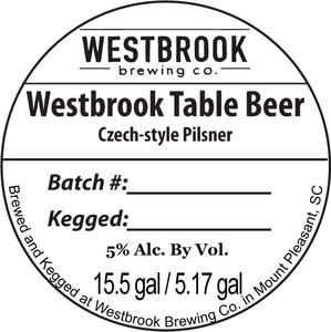 Westbrook Brewing Company Westbrook Table