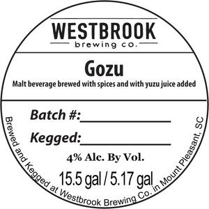 Westbrook Brewing Company Gozu