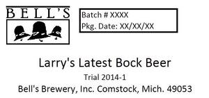 Bell's Larry's Latest Bock