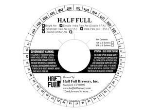 Half Full Double India Pale Ale (double I.p.a.)