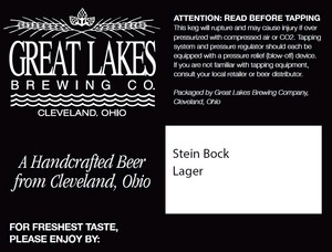 The Great Lakes Brewing Co. Stein Bock