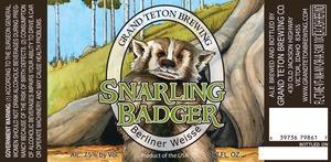 Grand Teton Brewing Company Snarling Badger