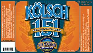Blue Mountain Brewery Kolsch 151