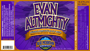 Blue Mountian Brewery Evan Altmighty