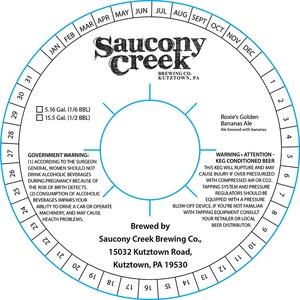 Saucony Creek Brewing Company Roxie's Golden Bananas Ale