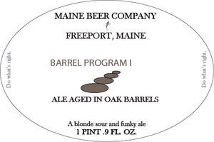 Maine Beer Company Barrel Program 1