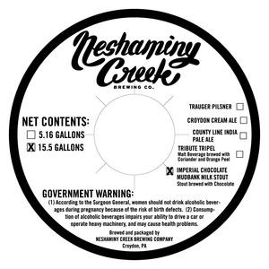 Neshaminy Creek Brewing Company Imperial Chocolate Mudbank Milk Stout
