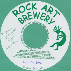 Rock Art Brewery Scotch Ale