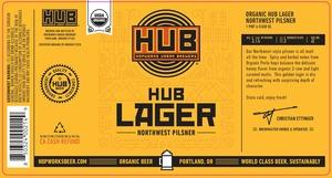 Hopworks Urban Brewery Hub Lager