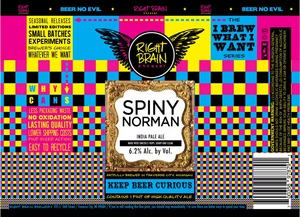 Right Brain Brewery Spiny Norman