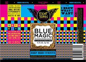 Right Brain Brewery Blue Magic