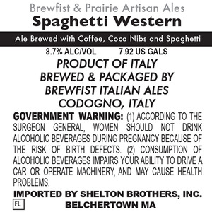 Brewfist Italian Ales Spaghetti Western