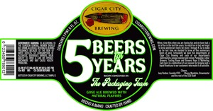 Cigar City Brewing 5 Beers For 5 Years
