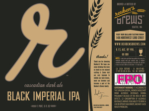 Reuben's Brews Black Imperial IPA