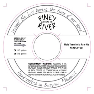 Piney River Brewing Co. LLC Mule Team