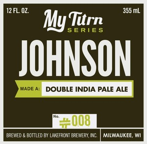 Lakefront Brewery Johnson Made A Double India Pale