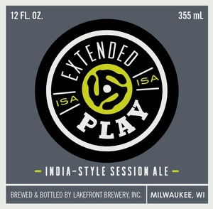 Lakefront Brewery Extended Play India-style Session