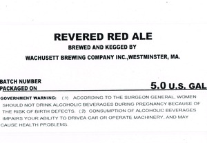 Wachusett Brewing Company Revered Red