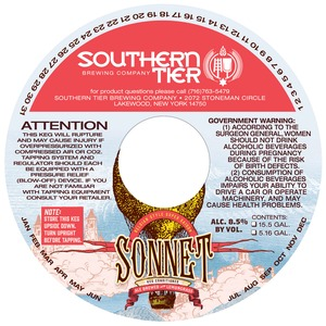 Southern Tier Brewing Company Sonnet