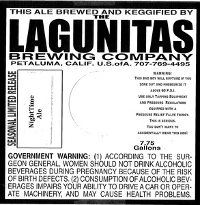 The Lagunitas Brewing Company Night Time