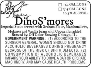 Off Color Brewing Dinos'mores