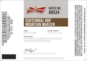Budweiser Centennial Hop Mountain Marzen