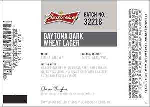 Budweiser Daytona Dark Wheat
